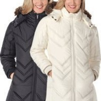 Chevron Quilted Coat - Women`s Sizes $39.99