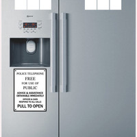 Police Box Fridge decal vinyl decal