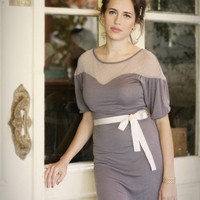 ON SALE  Emillia Dress in Blue and Grey size by ShlomitOfirDetails