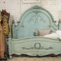 Painted Cottage Chic Shabby Aqua Queen Romance by paintedcottages