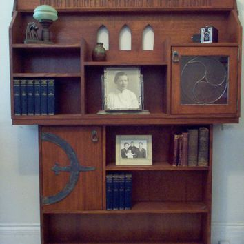 Mission Style Bookshelf by millefurniturestudio on Etsy