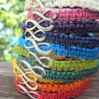 Infinity Bracelet Hemp Macrame Made to Order