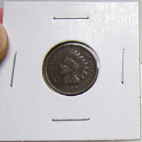 Vintage Indian Head Penny 1897 (You Grade)( In 2X2 Holder)