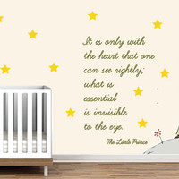 Little Prince Exupery decal for housewares
