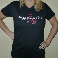 6 shirts Fight Like a Girl Breast Cancer Awareness