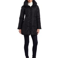 Via Spiga Women`s Ruffle Front Down Coat $90.00