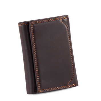 Style n Craft 300790-BR Tri-Fold Wallet in Soft Cow Leather