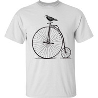 Mens Velocipede Vintage Bicycle T Shirt S M L XL