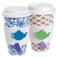 Tea Lovers Eco-Cup - Reusable Tea or Coffee Mug - Whimsical &amp; Unique Gift Ideas for the Coolest Gift Givers