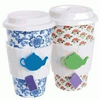 Tea Lovers Eco-Cup - Reusable Tea or Coffee Mug - Whimsical & Unique Gift Ideas for the Coolest Gift Givers