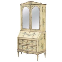 Fine Hand-Painted Venetian 19th Century Secretaire