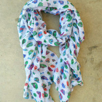 Sugar Skull Scarf [3328] - $18.00 : Vintage Inspired Clothing & Affordable Fall Frocks, deloom | Modern. Vintage. Crafted.