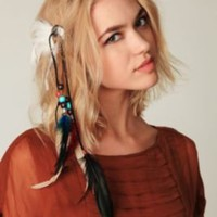 Free People Fringe and Feather Hair Clip at Free People Clothing Boutique