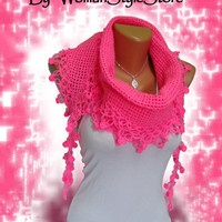 Baby pink, 2012 trends scarf, hand knit, woman scarf. Personalized Design. Latest Fashion. scarf, neckwarmer, scarflette...