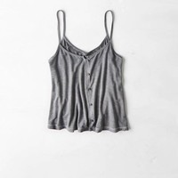 AEO CROPPED BUTTON DOWN TANK