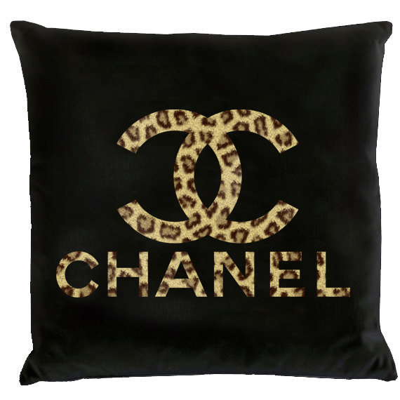 chanel logo pillowleopard from hudiefly2 on etsy for my new