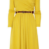 Tibi | Belted wool wrap dress | NET-A-PORTER.COM