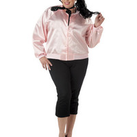 Pink Ladies Plus Size Jacket