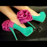 Fuschia Flower and Chiffon Heel Condom by Glamfoxx
