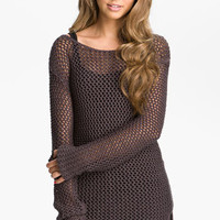 Rubbish® Mesh Knit Sweater Tunic (Juniors) | Nordstrom