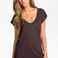 h.i.p. Stripe V-Neck Tee (Juniors) | Nordstrom