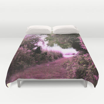 The Path Unknown Pink Duvet Cover by 2sweet4words Designs