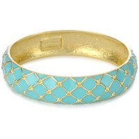"Amazon.com: Kate Spade New York ""Mariner"" Bangle Aqua: Jewelry"