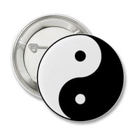 Yin Yang Pinback Buttons from Zazzle.com