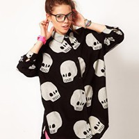 Lazy Oaf Skull Shirt at asos.com