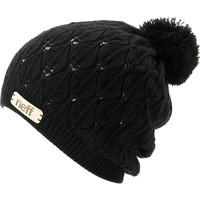 Neff Girls Kelly Black Pom Beanie