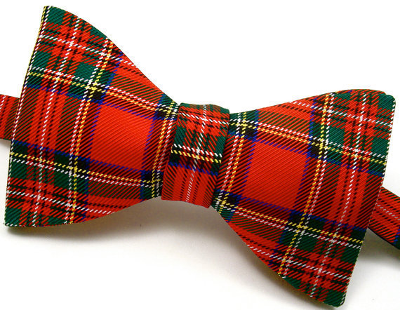 Royal Stewart Tartan Plaid Pure Silk Bow Tie - &#x27;Fit for a King&#x27;