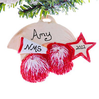Christmas ornament Cheer Leader - School Spirit Ornament - Dance team ornament - red cheer leader ornament