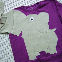 elephant sweatshirt/sweater/jumper