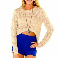 Arrowhead Cropped Sweater