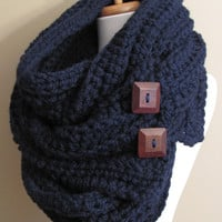 Convertible Tundra Eternity Scarf Oversized Wool by swakdesigns