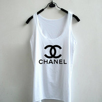 Women Chanel Tank Top - White