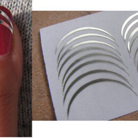 30 Silver Lines Decal (zebri) - Stickers Nail Art