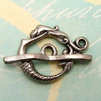 Mermaid Toggle Clasp Antique Pewter AP24 by FabBeads on Etsy