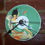vintage mermaid clock retro 1950's pin up by buckaroosmercantile