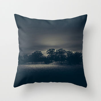 I left... Throw Pillow by HappyMelvin