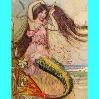 s115 vintage Victorian Dream  Mermaid by wwwvintagemermaidcom