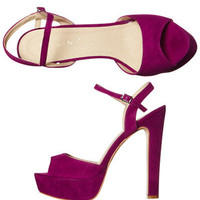 BILLINI MANDY HEEL - MAGENTA SUEDE