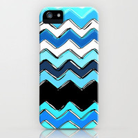 ocean chevron iPhone Case by Sharon Turner | Society6