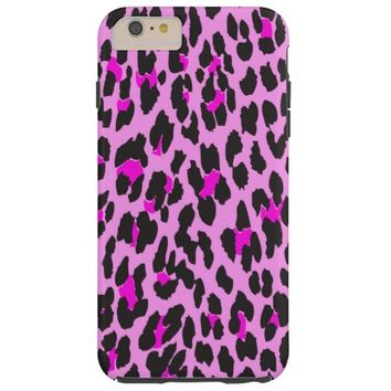 Animal Print, Spotted Leopard - Pink Black