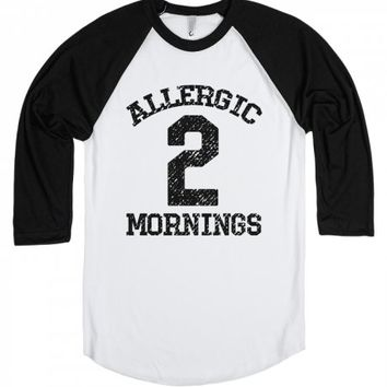 Allergic Morning-Unisex White/Black T-Shirt