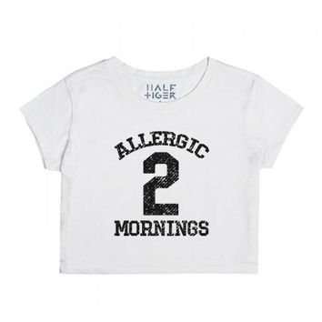 Allergic 2 Mornings-Unisex Snow T-Shirt