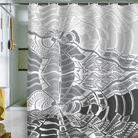 DENY Designs Home Accessories | Karen Harris Post Modern Monochromatic Shower Curtain