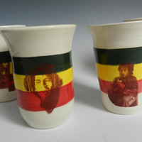 Set of 4 Bob Marley tumblers