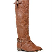 Tan Knee High Riding Boots