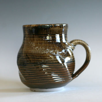 Twisted Coffee Mug, handmade ceramic cup, tea cup, coffee cup, handthrown ceramic stoneware pottery mug, unique coffee mug